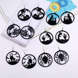 Halloween Acrylic Drop Earrings!